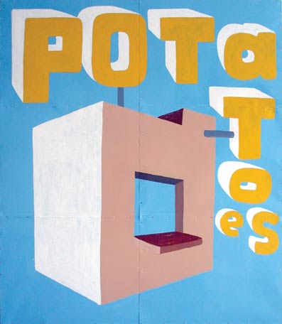 antje dorn - imbisse - potatoes - painting